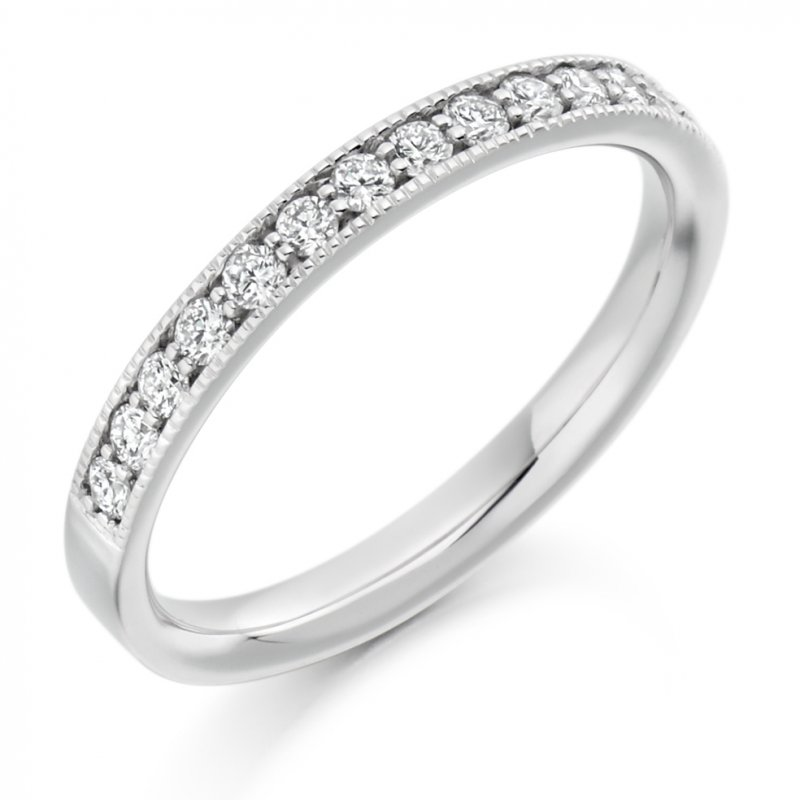 0.33ct Grain Set Diamond Band 3