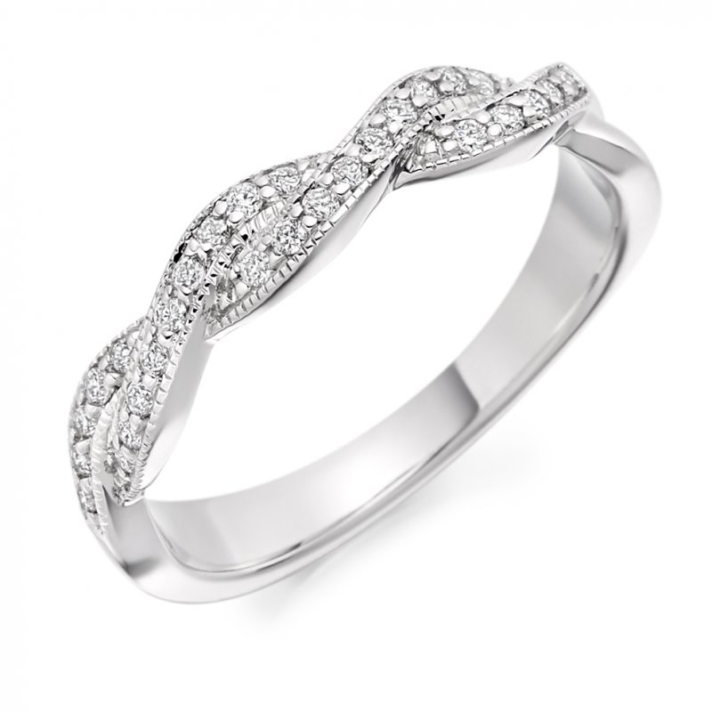 0.22ct Twist Crossover Diamond Band