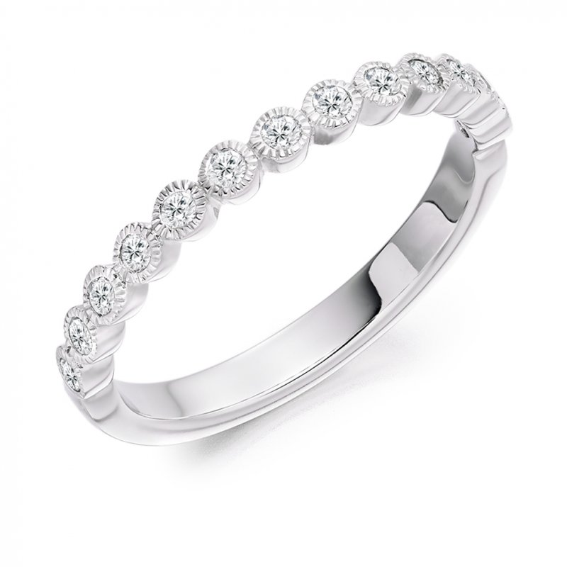 0.25ct Rubover Diamond Band