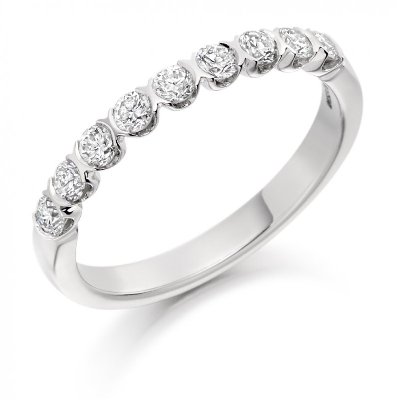 0.50ct Bar Set Diamond Band