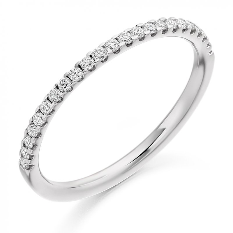 0.25ct Micro-claw Set Diamond Band Single