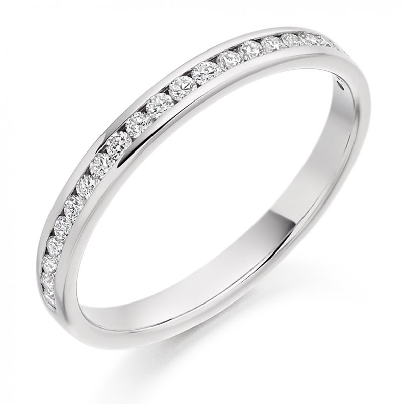 0.25ct Round Brilliant Channel Set Diamond Band 2