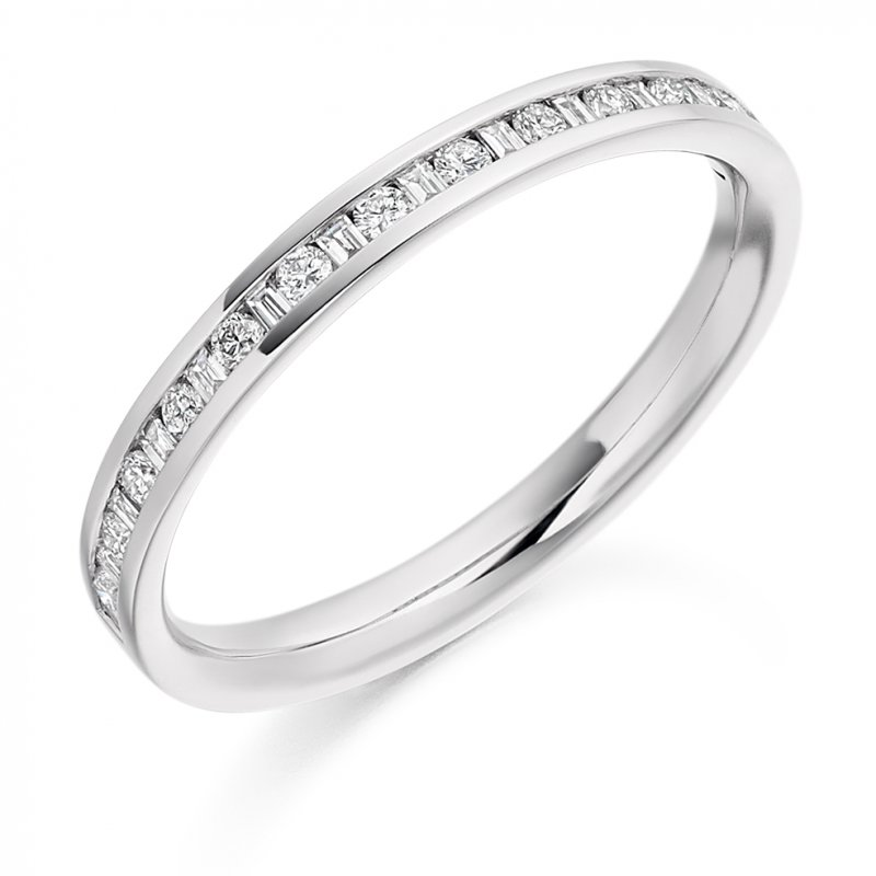 0.30ct Mixed Cut Channel Diamond Band