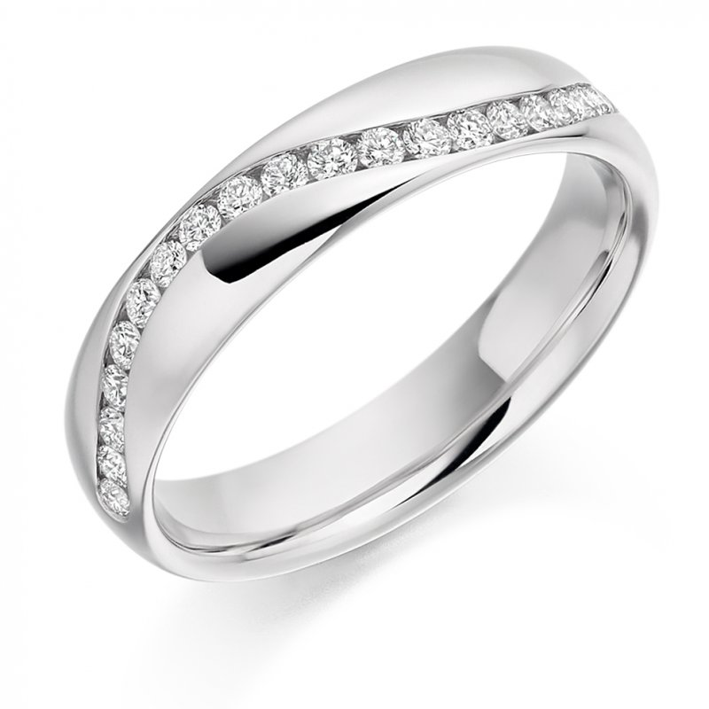 0.30ct Wave Channel Diamond Band