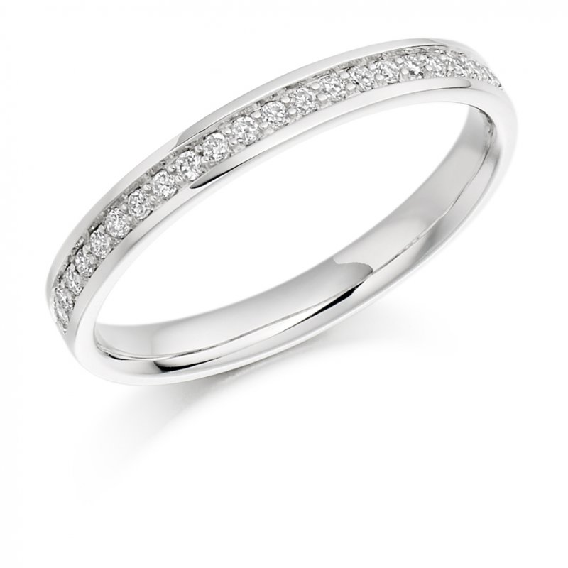 0.17ct Grain Set Diamond Band