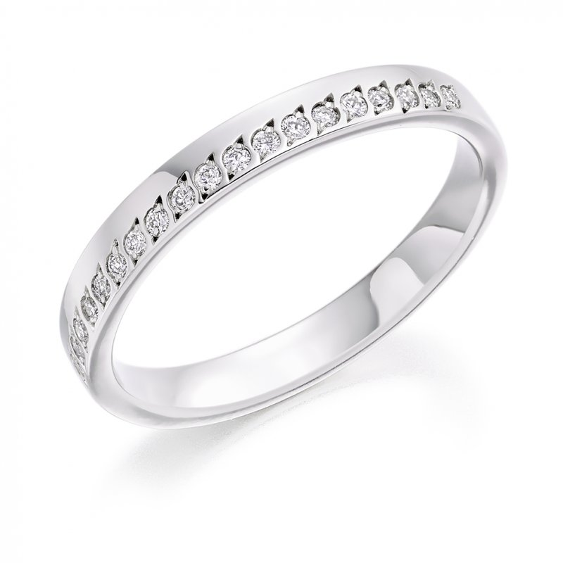 0.15ct Offset Grain Diamond Band