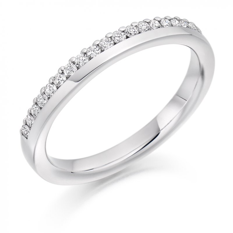 0.22ct Offset Micro-claw Diamond Band