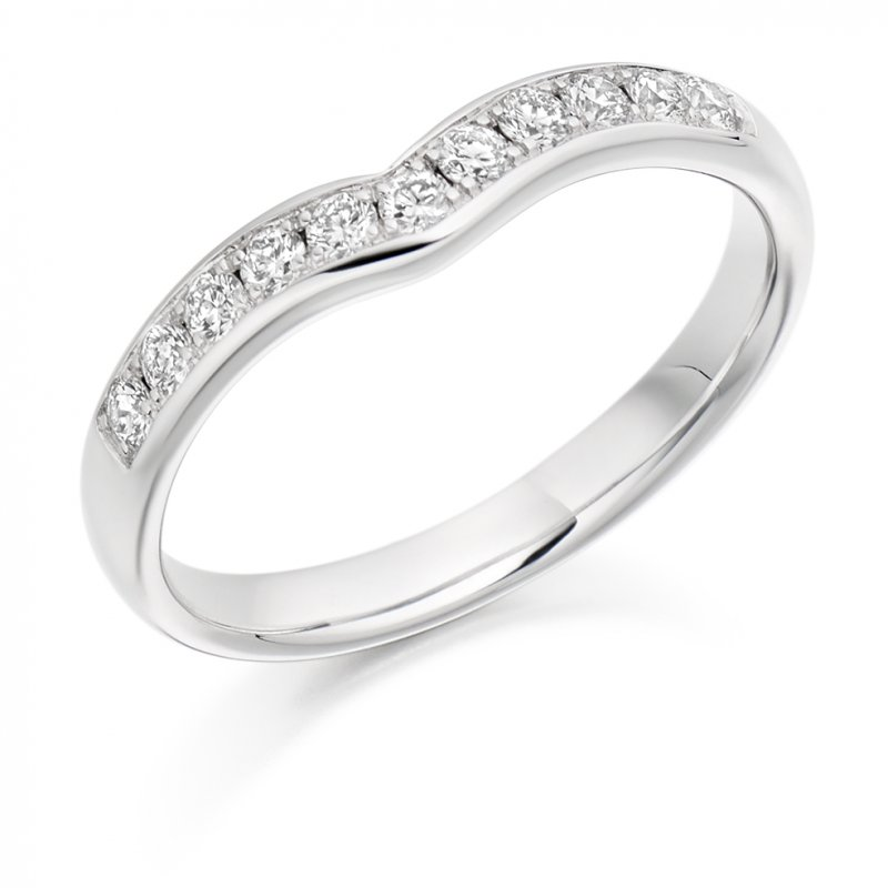 0.30ct Grain Set Shaped Diamond Band