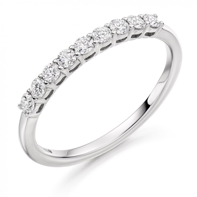 0.33ct Shared Claw Diamond Set Band