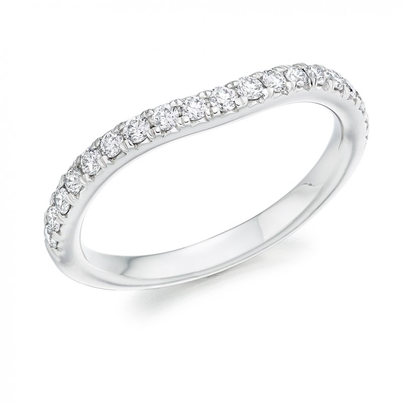 0.35ct Micro-claw Shaped Diamond Band