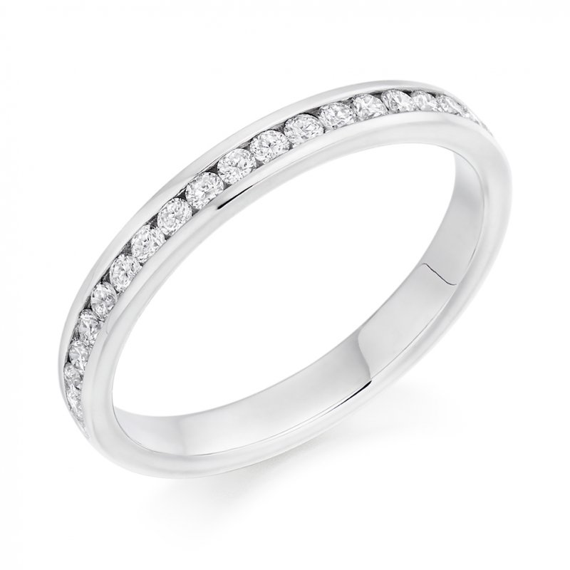 0.33ct Round Brilliant Channel Diamond Band