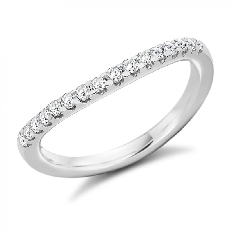 0.30ct Micro-claw Shaped Diamond Band