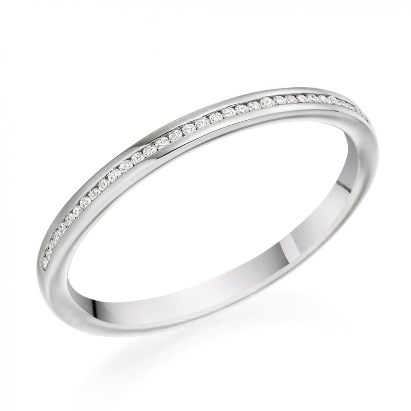 0.07ct Round Brilliant Channel Set Diamond Band