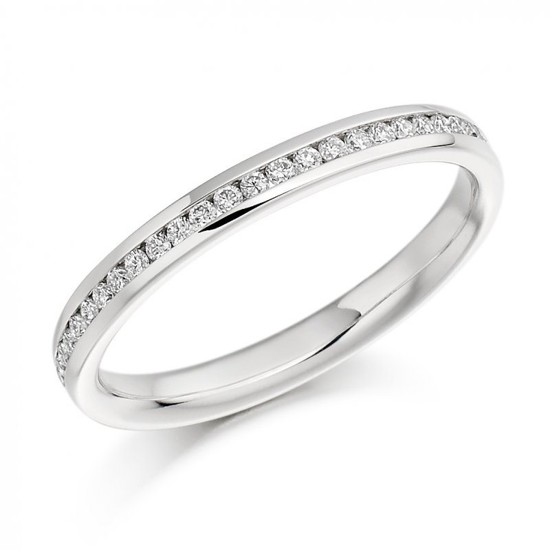 0.15ct Round Brilliant Channel Set Diamond Band