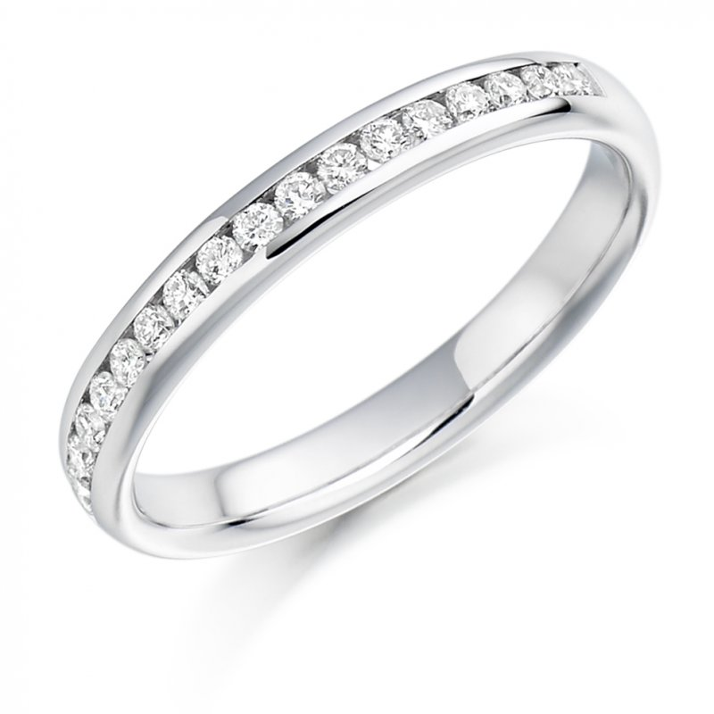 0.22ct Round Brilliant Channel Set Diamond Band