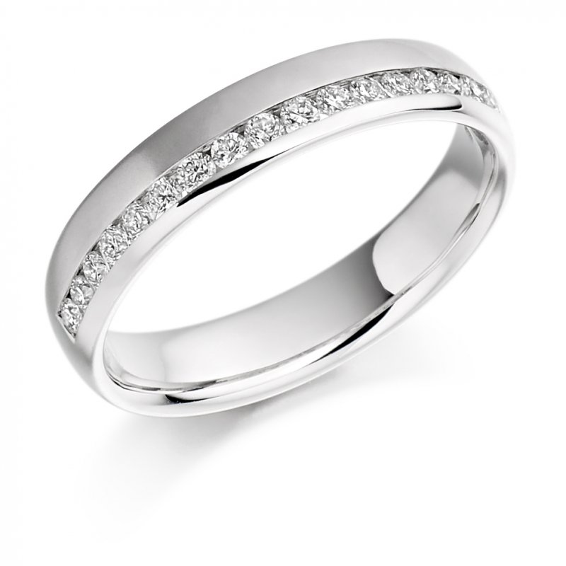0.26ct Offset Channel Diamond Band