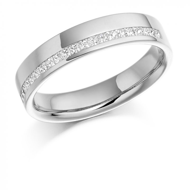 0.25ct Offset Princess Diamond Band