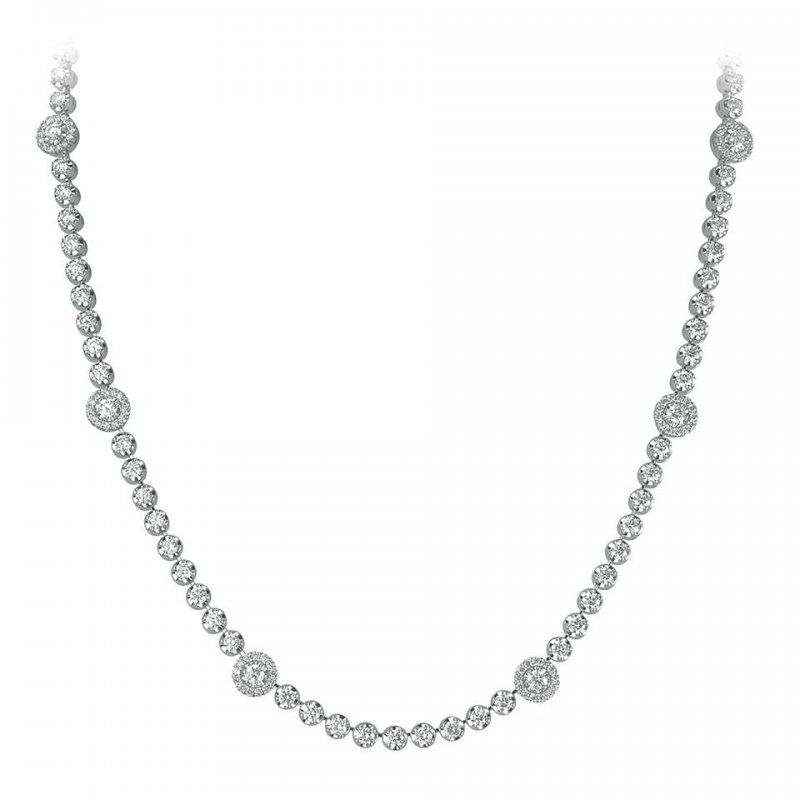 4.30ct Halo Single Row Necklace £8790.00