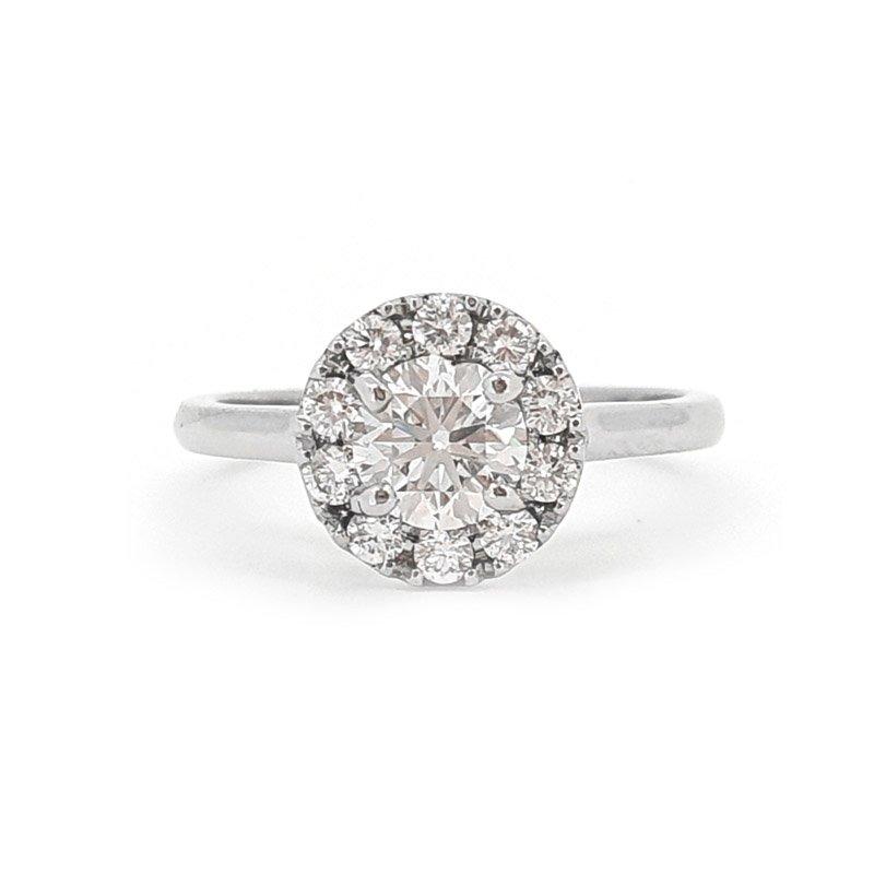 0.68ct  Classic Round Halo Diamond Engagement £3500.00