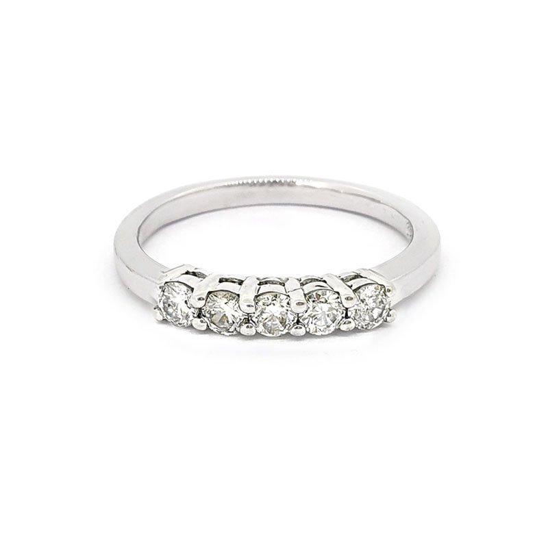 9ct White Gold 0.35ct 5 Stone Diamond Ring £990.00