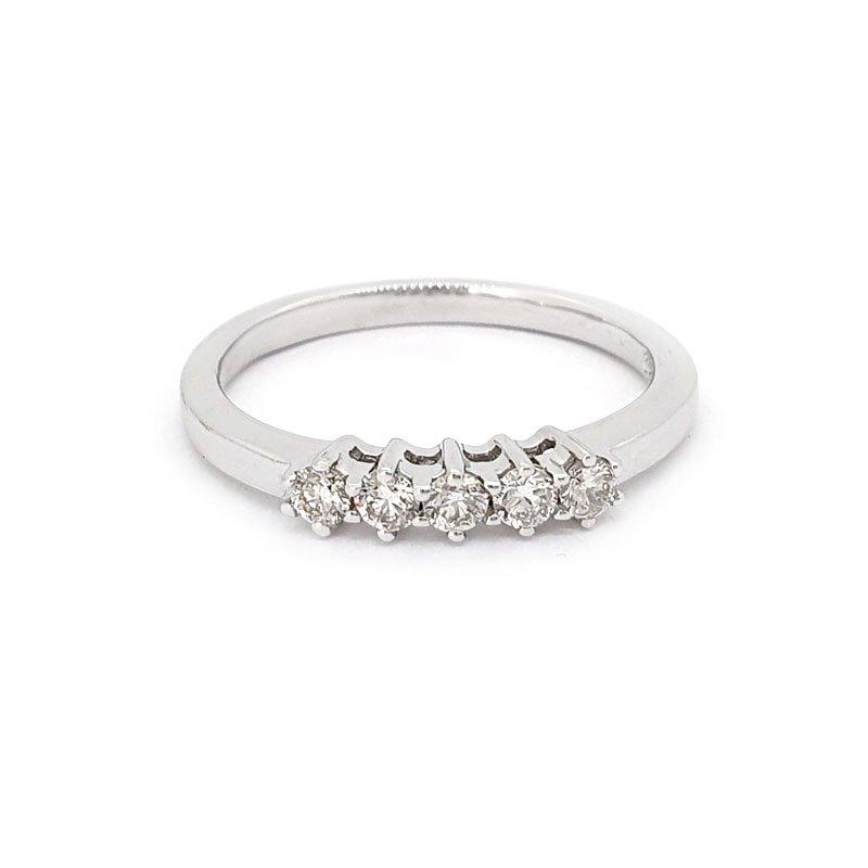 9ct White Gold 0.23ct 5 Stone Diamond Ring £645.00