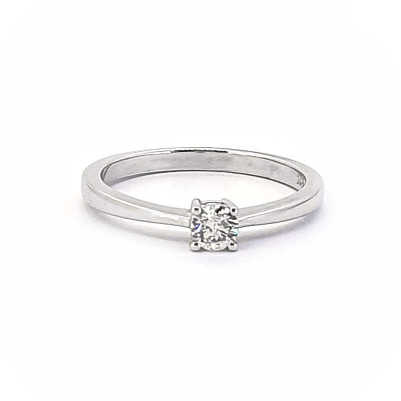 9ct White Gold 0.20ct Diamond Soiltaire £945.00