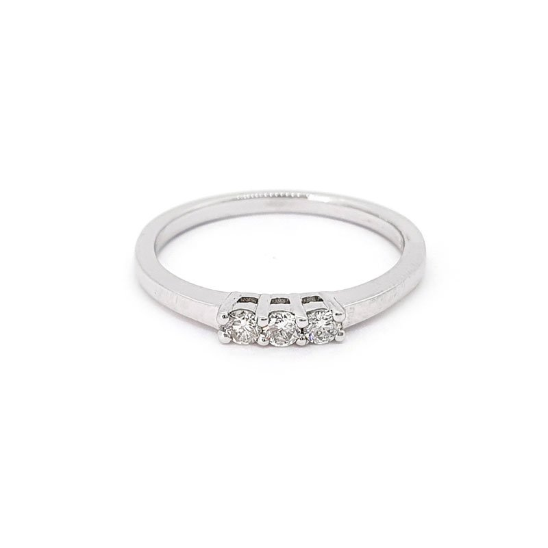 9ct White Gold 0.14ct Diamond Engagement Ring £480.00