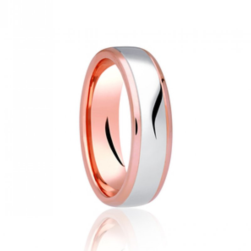 Bi- Colour Wedding Band 4