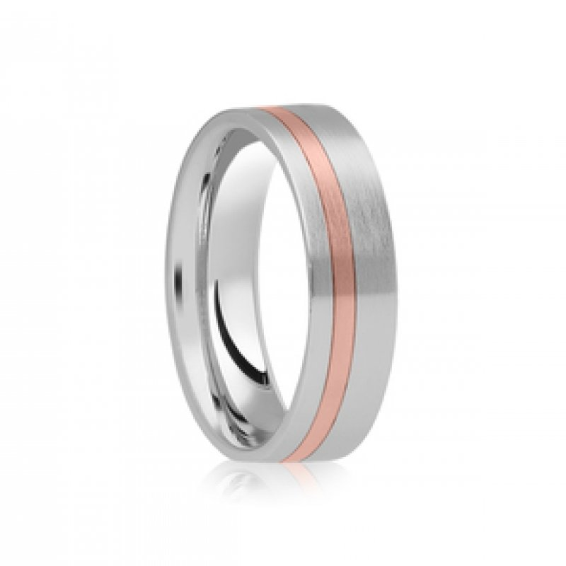 Bi- Colour Wedding Band 5