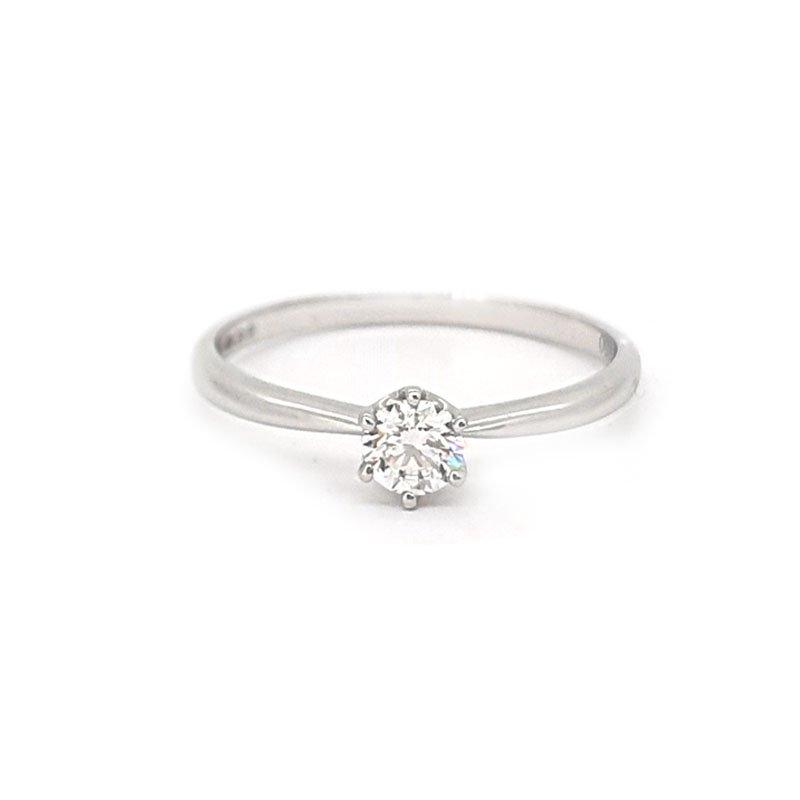 18ct White Gold 0.25ct Round Diamond Ring £995.00