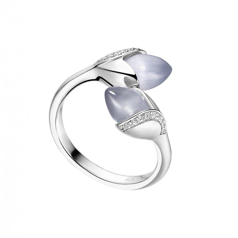 Magnolia Double Stone Ring Grey £160.00