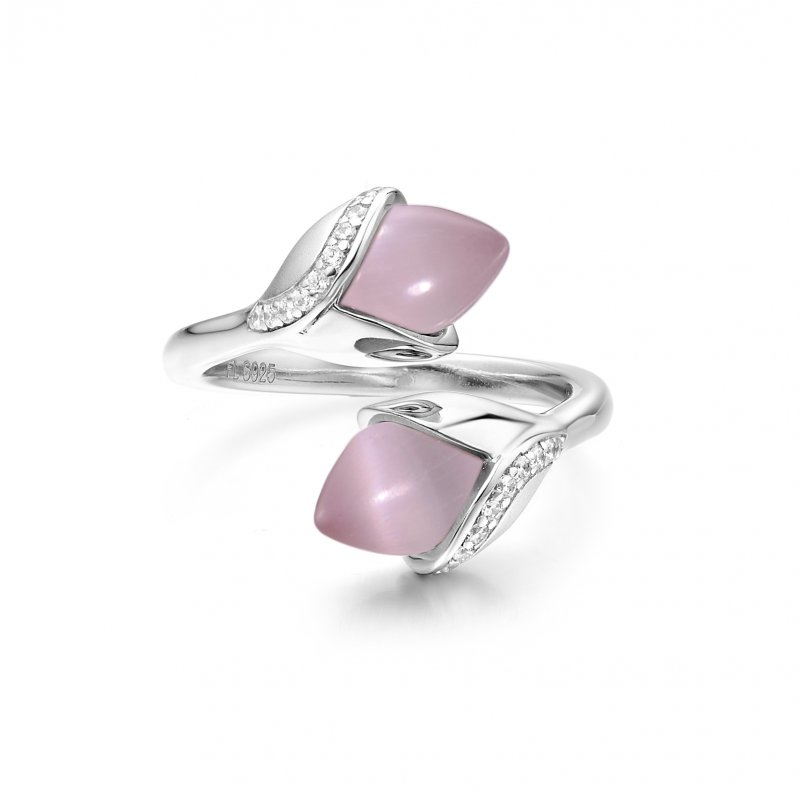 Magnolia Double Stone Ring Pink £160.00