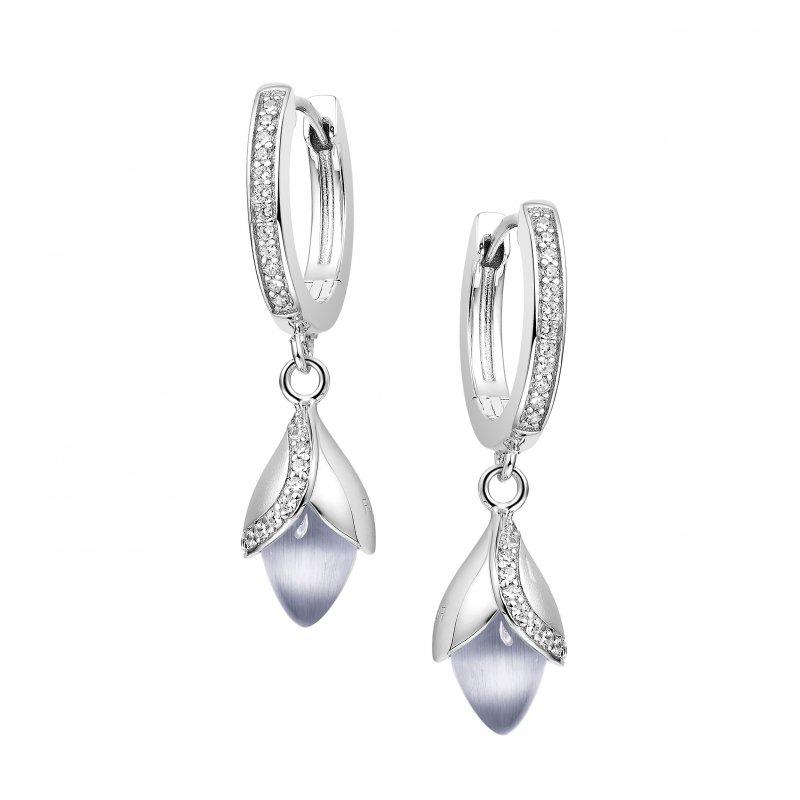 Magnolia Hoop Earrings Grey £180.00