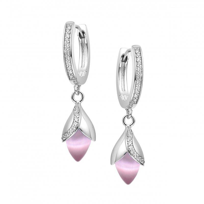 Magnolia Hoop Earrings Pink £180.00