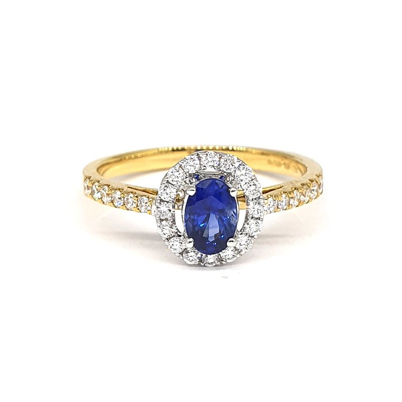 0.52ct Oval Sapphire and Diamond Engagement Ring £1230.00