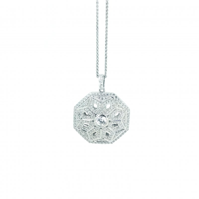 Art Deco Style Octagonal Necklace