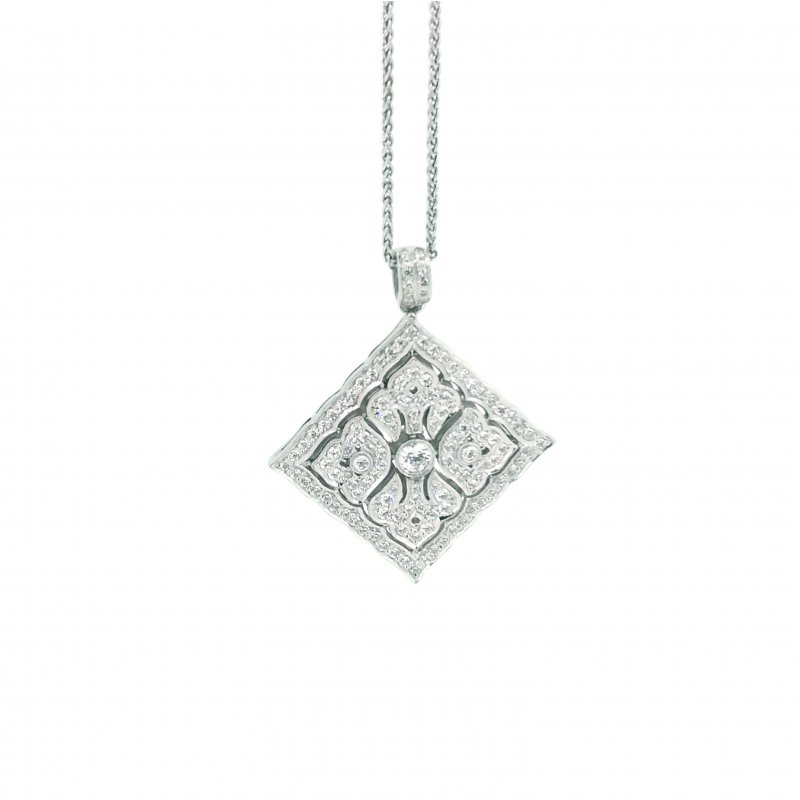 Art Deco Style Diamond Shaped Necklace