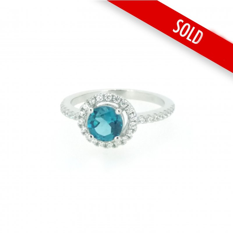 London Topaz & CZ Ring £64.00