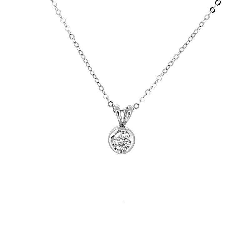 0.20ct Solitaire Diamond Pendant