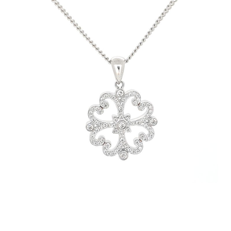 18ct Diamond Emblem Necklace 2