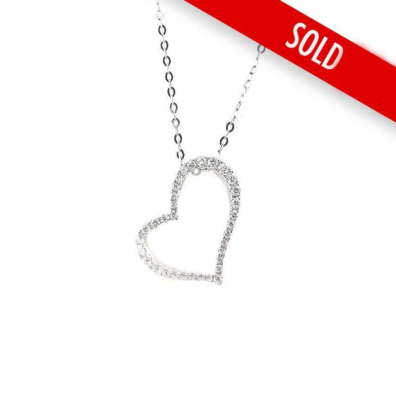 18ct Heart Diamond Necklace £950.00