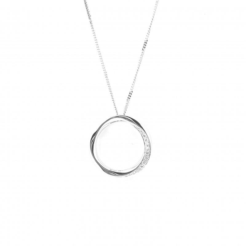 18ct Diamond Circle Necklace
