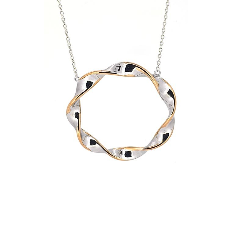 Large Silver Blush Twist Circle Pendant £73.00