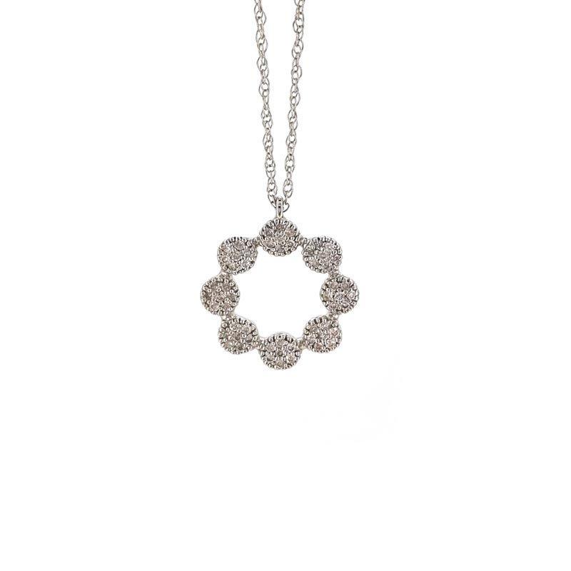 9ct Diamond Wreath Necklace £475.00