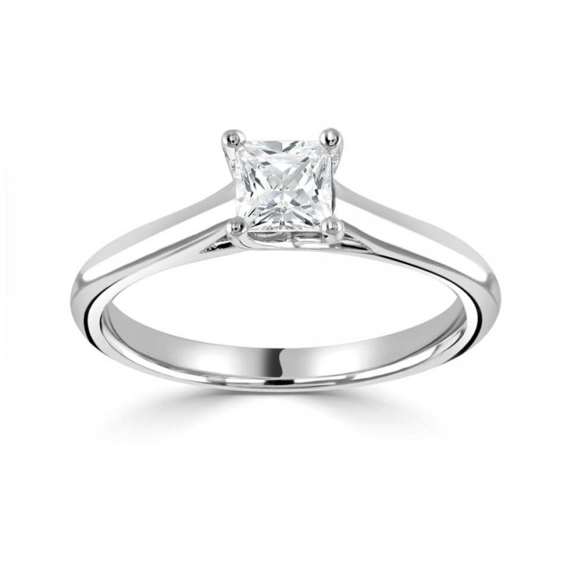 0.50CT Four Claw Cushion Solitaire £2405.00