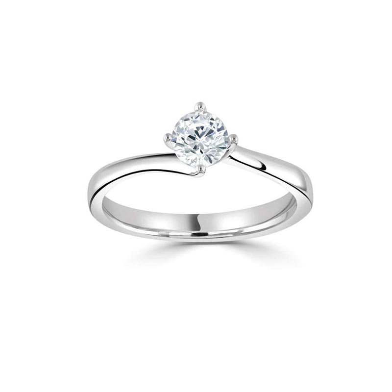 0.50ct Round Twist Solitaire