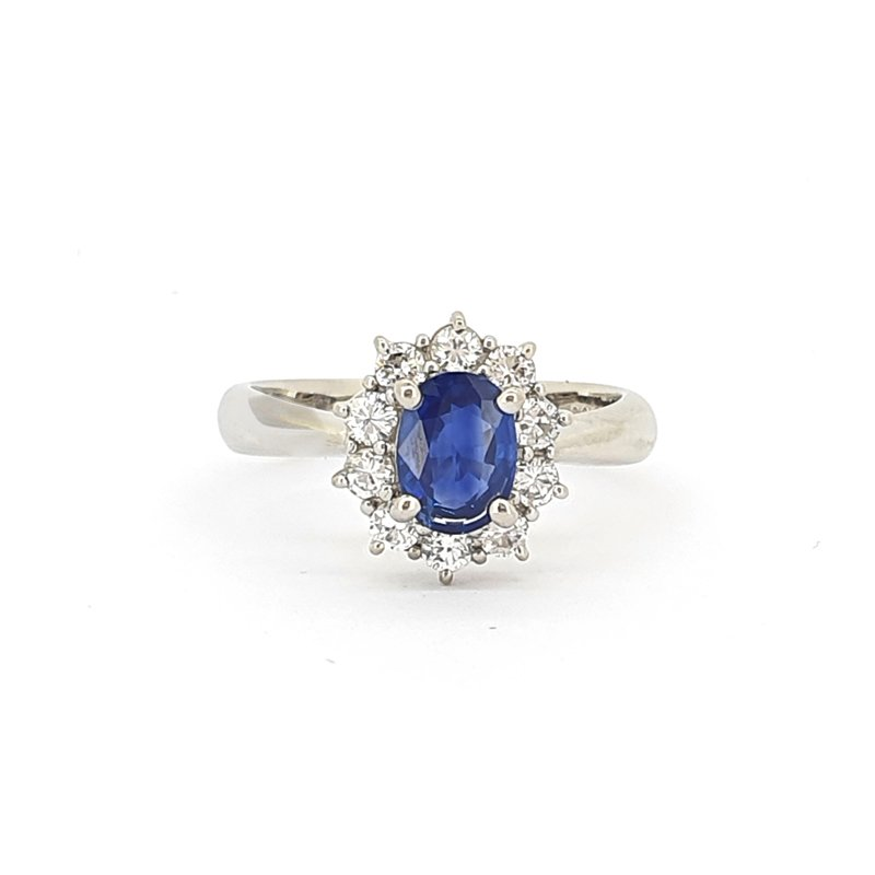 0.92ct Oval Sapphire and Diamond Ring £2985.00