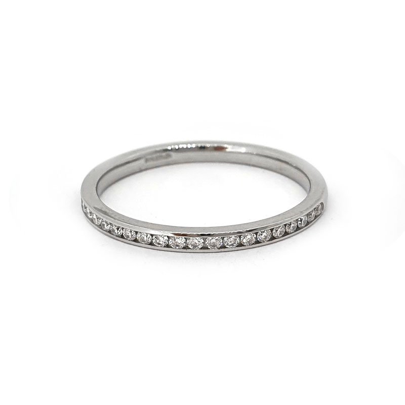 0.25ct TGO Platinium Channel Set Diamond Ring £990.00