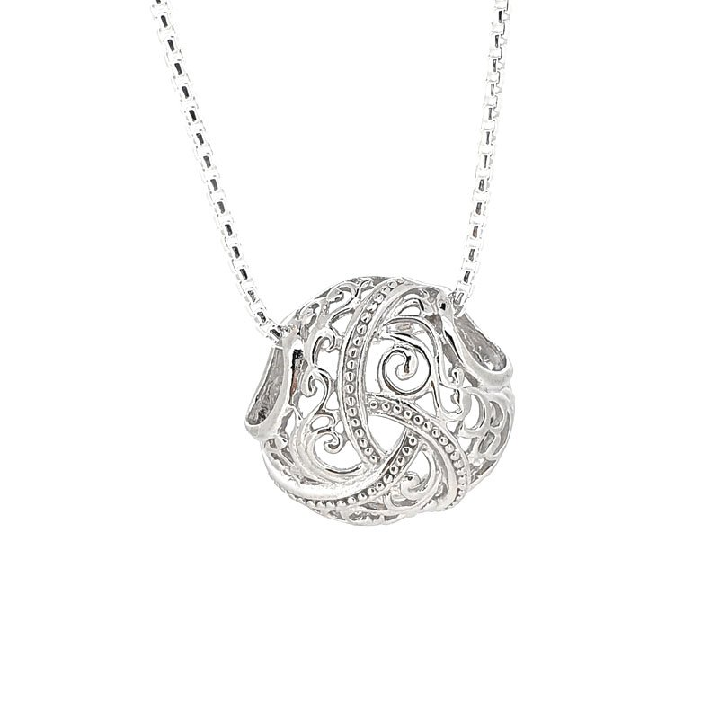 Large Silver Filegree Necklace £97.00