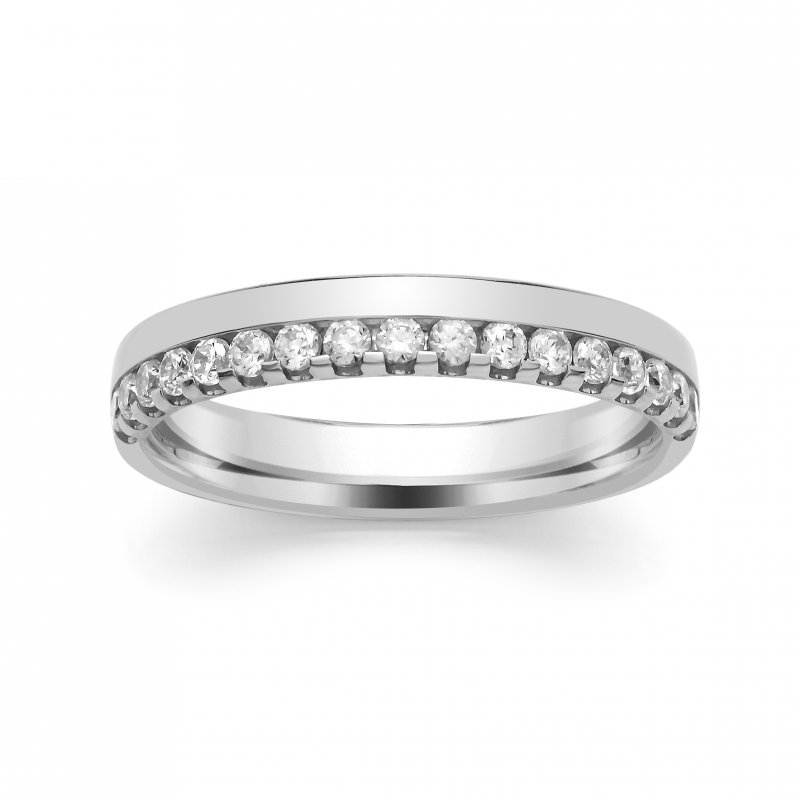 0.40ct Offset Claw Diamond Band